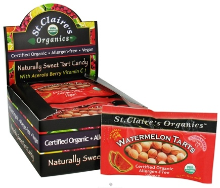 DROPPED: St. Claire's Organics - Naturally Sweet Watermelon Tarts - 0.56 oz. CLEARANCE PRICED