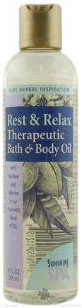 DROPPED: Sunshine Spa - Body Oil Rest Relax - 8 oz.