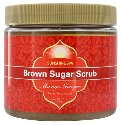 DROPPED: Sunshine Spa - Brown Sugar Scrub Mango Ginger - 16 oz. CLEARANCE PRICED