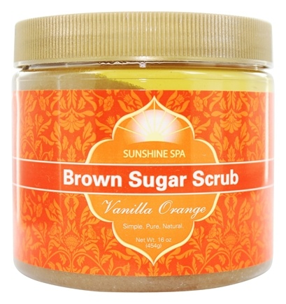 Sunshine Spa - Brown Sugar Scrub Vanilla Orange - 16 oz.