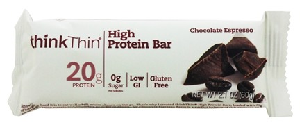 Think Products - thinkThin Protein Bar Chocolate Espresso - 2.1 oz.