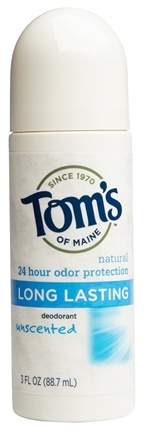 DROPPED: Tom's of Maine - Natural Deodorant Roll-On Long-Lasting Unscented - 3 oz.