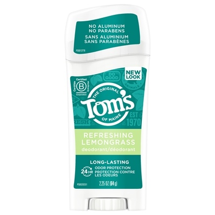Tom's of Maine - Natural Deodorant Stick Long-Lasting Refreshing Lemongrass - 2.25 oz.