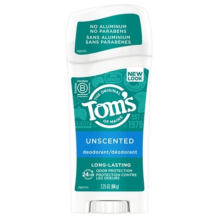 Tom's of Maine - Natural Deodorant Stick Long-Lasting Unscented - 2.25 oz.