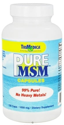 DROPPED: Trimedica - MSM 1000 mg. - 120 Capsules