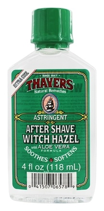 Thayers - Witch Hazel After Shave With Aloe Vera Extra Strength - 4 oz.