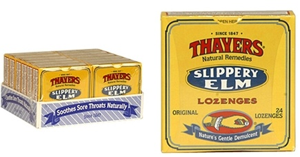 DROPPED: Thayers - Slippery Elm Lozenges Original - 24 Lozenges CLEARANCE PRICED