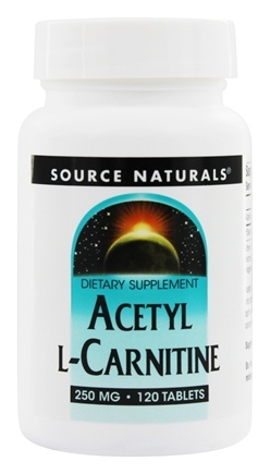 Source Naturals - Acetyl L-Carnitine 250 mg. - 120 Tablets