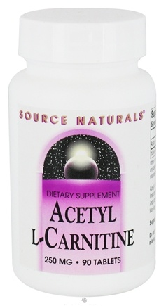 DROPPED: Source Naturals - Acetyl L-Carnitine 250 mg. - 90 Tablets CLEARANCED PRICED