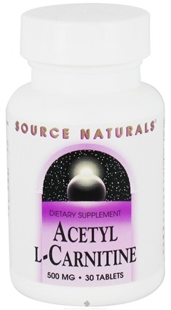 DROPPED: Source Naturals - Acetyl L-Carnitine 500 mg. - 30 Tablets CLEARANCE PRICED