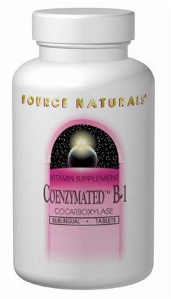 DROPPED: Source Naturals - Coenzymated B-1 Sublingual 25 mg. - 30 Tablets