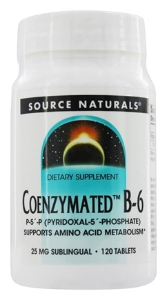 Source Naturals - Coenzymated B-6 Sublingual 25 mg. - 120 Tablets