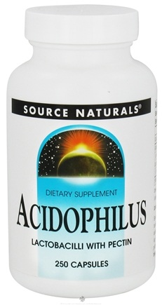 DROPPED: Source Naturals - Acidophilus Lactobacilli with Pectin - 250 Tablets