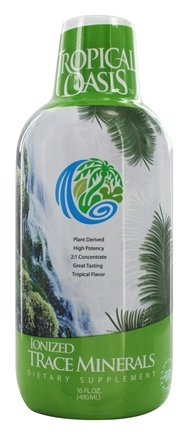 Tropical Oasis - Ionized Trace Minerals Tropical Flavor - 16 oz.