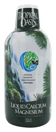 Tropical Oasis - Liquid Calcium Magnesium Orange Flavor - 16 oz.
