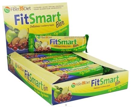 DROPPED: Fiber 35 Diet - FitSmart Protein Bar Delicious Cranberry Apple - 2.1 oz.