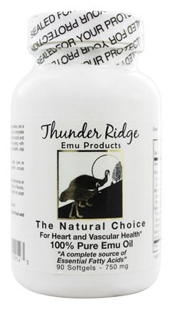Thunder Ridge Emu Products - 100% Pure EMU Oil Gel Caps - 90 Softgels