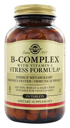 Solgar - B-Complex with Vitamin C Stress Formula - 250 Tablets