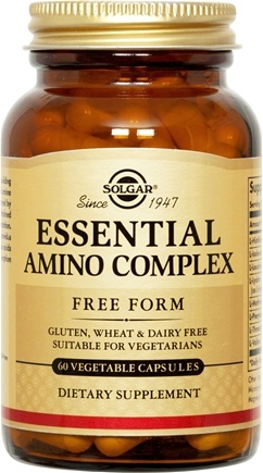DROPPED: Solgar - Essential Amino Complex Free Form - 60 Vegetarian Capsules CLEARANCE PRICED