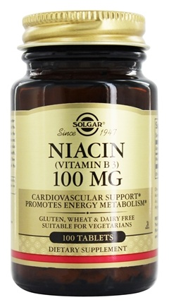 Solgar - Niacin (Vitamin B3) 100 mg. - 100 Tablets