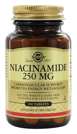 Solgar - Niacinamide 250 mg. - 100 Tablets
