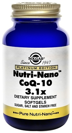 DROPPED: Solgar - Platinum Edition Nutri-Nano CoQ-10 3.1x - 50 Softgels CLEARANCE PRICED