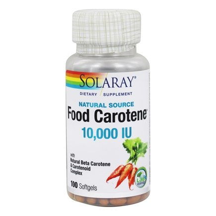 DROPPED: Solaray - Food Carotene All Natural 10,000 IU Vitamin A Activity - 100 Softgels CLEARANCE PRICED