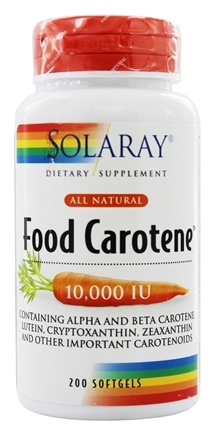 Solaray - Food Carotene All Natural 10,000 IU Vitamin A Activity - 200 Softgels