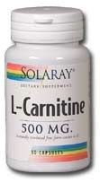 DROPPED: Solaray - Free-Form L-Carnitine - 30 Capsules