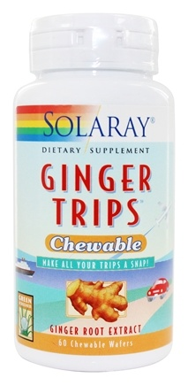Solaray - Ginger Trips Chewable Ginger Root Extract - 60 Chewable Wafers