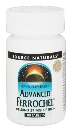 Source Naturals - Advanced Ferrochel Yielding 27 mg Of Iron - 180 Tablets
