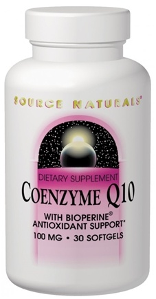 DROPPED: Source Naturals - CoEnzyme Q-10 with Bioperine 100 mg. - 30 Softgels CLEARANCE PRICED