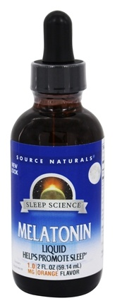 DROPPED: Source Naturals - Melatonin Liquid Sublingual Natural Orange Flavor - 2 oz.