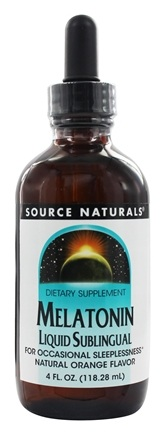Source Naturals - Melatonin Liquid Sublingual Natural Orange Flavor - 4 oz.