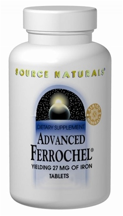 DROPPED: Source Naturals - Advanced Ferrochel - 90 Tablets CLEARANCE PRICED