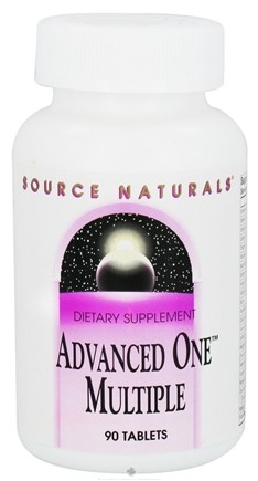 DROPPED: Source Naturals - Advanced One Multiple - 90 Tablets CLEARANCE PRICED