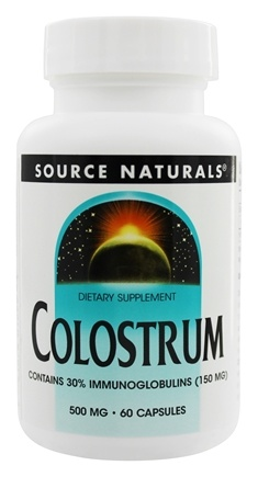 Source Naturals - Colostrum 30% Immunoglobulins 150 mg 500 mg. - 60 Capsules