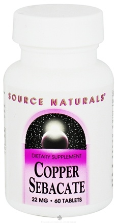 DROPPED: Source Naturals - Copper Sebacate 22 mg. - 60 Tablets CLEARANCED PRICED