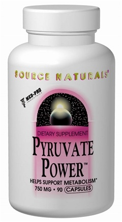 DROPPED: Source Naturals - Pyruvate Power 750 mg. - 90 Capsules CLEARANCE PRICED
