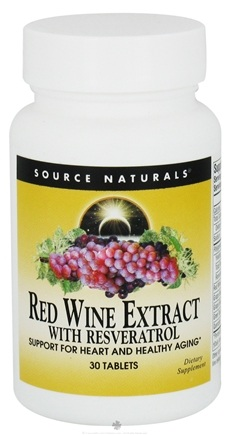 DROPPED: Source Naturals - Red Wine Extract with Resveratrol - 30 Tablets