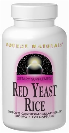 DROPPED: Source Naturals - Red Yeast Rice 600 mg. - 120 Capsules
