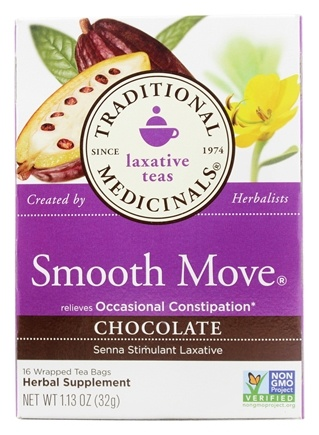 Traditional Medicinals - Chocolate Smooth Move Tea - 16 Tea Bags