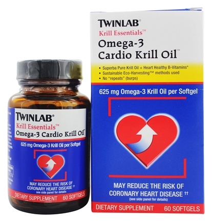 "Twinlab - Krill Essentials Omega-3 Cardio Krill Oil - 60 Gelcaps No ""Repeats"" (Burp)"