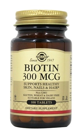 DROPPED: Solgar - Biotin 300 mcg. - 100 Tablets