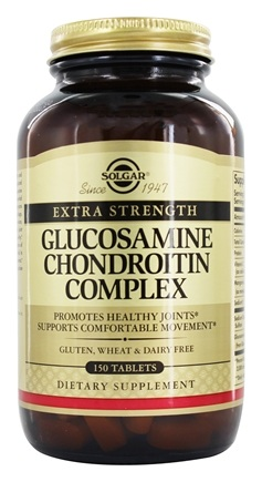 Solgar - Extra Strength Glucosamine Chondroitin Complex - 150 Tablets