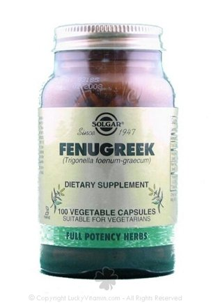 DROPPED: Solgar - Fenugreek - 100 Vegetarian Capsules