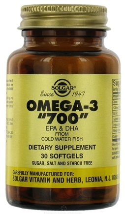 DROPPED: Solgar - Omega 3 700 mg. - 30 Softgels
