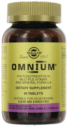 DROPPED: Solgar - Omnium The Advanced Phytonutrient-Rich Multiple - 90 Tablets CLEARANCE PRICED