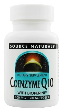 Source Naturals - Coenzyme Q10 with Bioperine 100 mg. - 60 Softgels