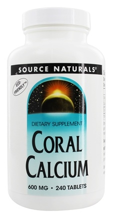 Source Naturals - Coral Calcium 600 mg. - 240 Tablets